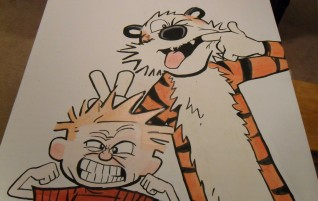 Calvin and Hobbes Wall Painting